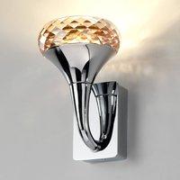Crystal designer LED wall light Fairy amber