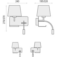 Hold wall lamp right  reading arm and USB port