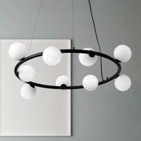 Pom  hanging light 9 bulb with glass balls