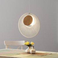 Forestier Oyster designer hanging light  white