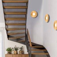 Circle Sun LED wall light  gold  1 bulb