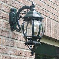 Outdoor wall light Andrew hanging lantern green