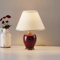 Tafellamp Bordeaux, hoogte 34 cm, diameter 25 cm