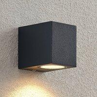 ELC Fijona LED outdoor wall lamp  angular  8 1 cm