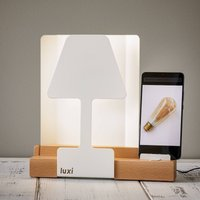 Luxi LED table lamp  integrated charging station