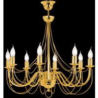 Chandelier Retro  8 bulb  gold  120 cm suspension