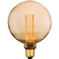Globe LED bulb E27 5 W warm white 3 step dim gold