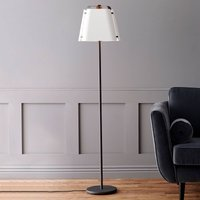 Fold floor lamp with a metal lampshade