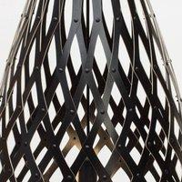 david trubridge Koura pendant lamp  50 cm  black