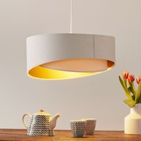 2 coloured Chloe hanging light in a layer look