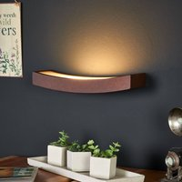 LED wall light Dolce in rust look  30 cm wide