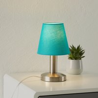 Merete table lamp with touch function  turquoise