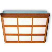 Beech wood ceiling light Kyoto 9 with LED