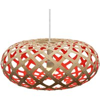 david trubridge Kina hanging lamp  44cm bamboo red