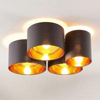 Lindby Laurenz Deckenlampe, 4-fl., grau-gold