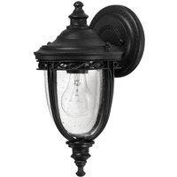 English Bridle wall lantern outdoor 16 5 cm black