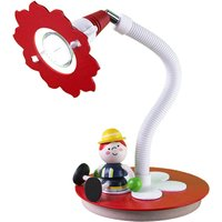 Fireman Fred LED table lamp  red and white