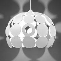 Modul Kugel L hanging light  steel   45 cm white