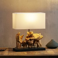 KARE Nature Vertical table lamp with driftwood