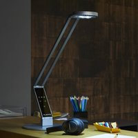 Luctra Table Radial LED table lamp aluminium base