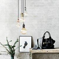 Avra   minimalist hanging lamp in chrome