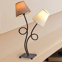 Two bulb fabric table lamp Twiddle