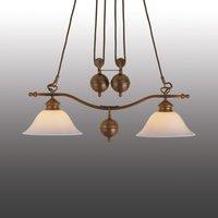 Year 1900 two bulb pendant light
