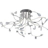 B Leuchten Crystal ceiling light  chrome  54 cm