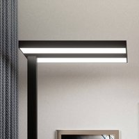 LED office floor lamp Logan in black  dimmable