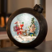 LED globe Santa Claus with children  with water