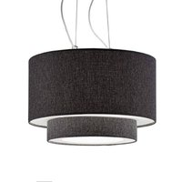 Morfeo hanging light  fabric lampshade  anthracite