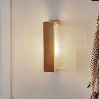 Shifted 1 wall light  glass and light wood