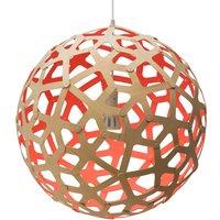 david trubridge Coral hanging lamp   60 cm red
