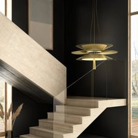 Forestier Gravity 2 hanging light  68 cm champagne