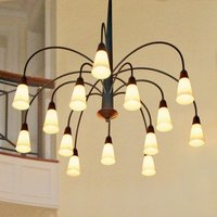 Impressive 14 bulb hanging light STELLA