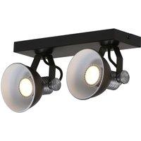 Brooklyn LED ceiling spotlight 2 bulb black