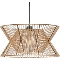 Argela hanging light with dual lampshade  natural