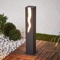 El Rayo LED pillar light with unilateral light