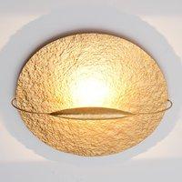 Gold coloured LED ceiling lamp Satellite