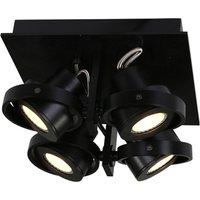 Westpoint LED ceiling spotlight 4 bulb black