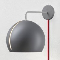Nyta Tilt Globe Wall wall lamp red cable  grey