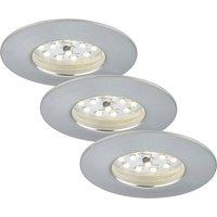 Set of 3 Felia LED recessed lights IP44  aluminium