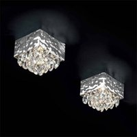 MAGMA ceiling light clear crystal elements 12x12cm
