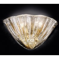 24 carat gold plated glass wall light Alba