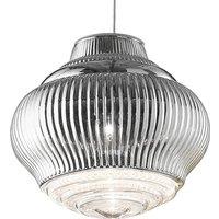 Bonnie pendant lamp 130 cm metallic silver