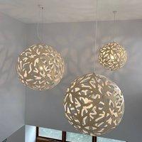 david trubridge Floral hanging lamp   60cm natural