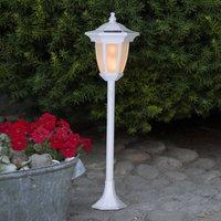 Flame LED solar light, 4 in 1, white