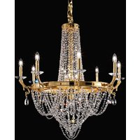 Elisabetta crystal chandelier made of brass