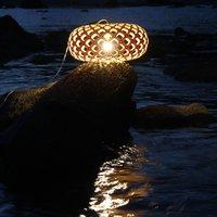 david trubridge Kina hanging lamp   80 cm caramel