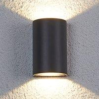 Halbrunde LED-Außenwandleuchte Jale, 2 x 5 W